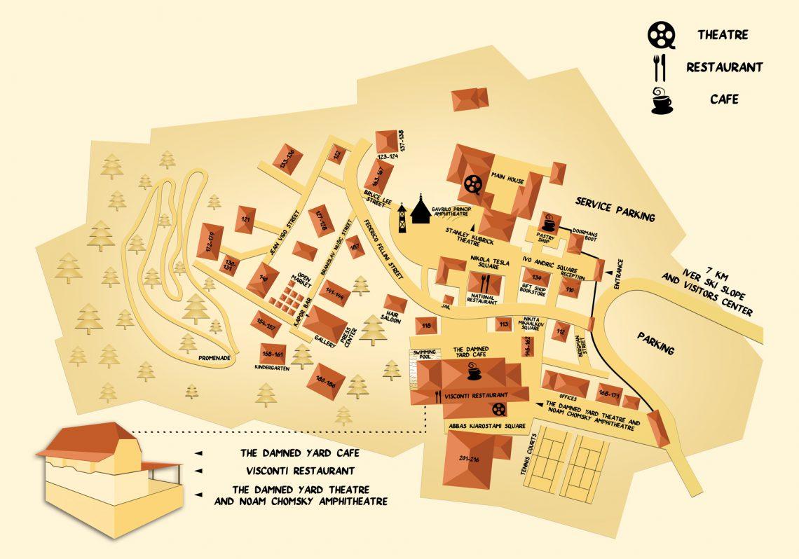 drvengrad mapa Drvengrad Tourist centre | Mećavnik   Drvengrad drvengrad mapa